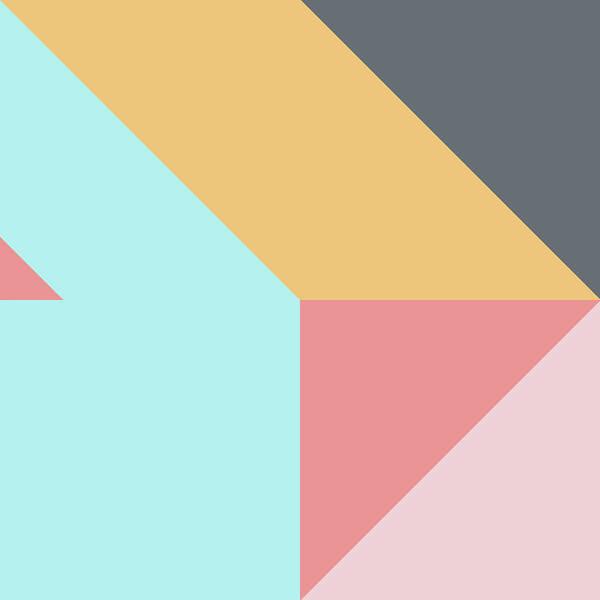 Art Print featuring the digital art Geometric Pattern Vii by Ultra Pop