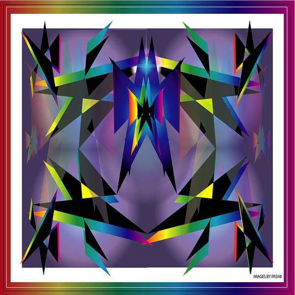 Abstract Art Print featuring the digital art Geometrics1 by George Pasini
