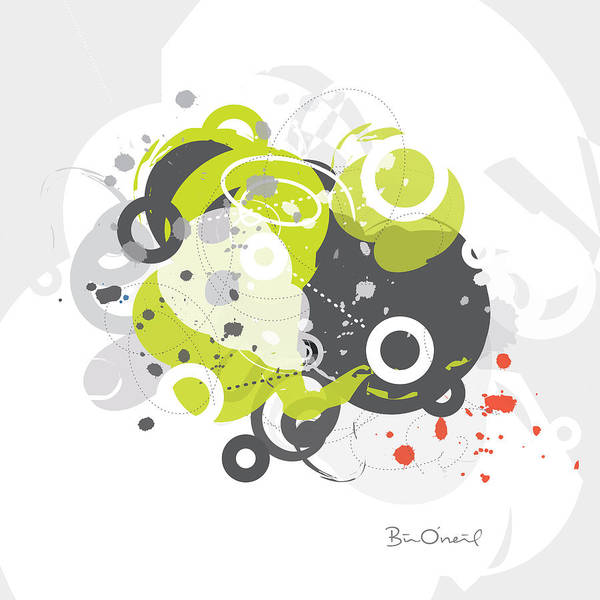 Retro Art Print featuring the print Gizmo - Retro-modern Abstract by Bill ONeil