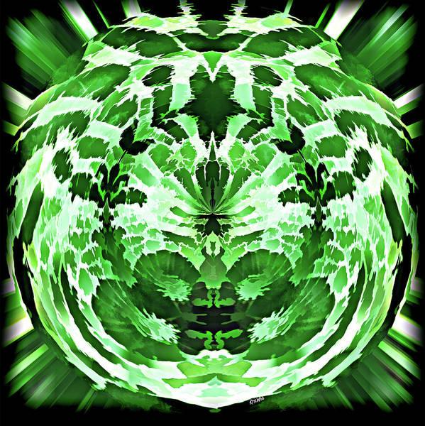 Green Art Print featuring the digital art Green by Kris Woo
