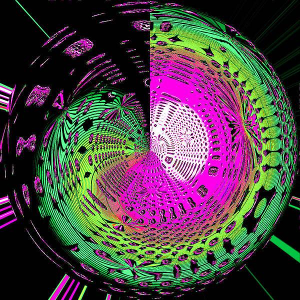 Blue-magic-wheels Art Print featuring the digital art Green-magic-wheel by Ramon Labusch