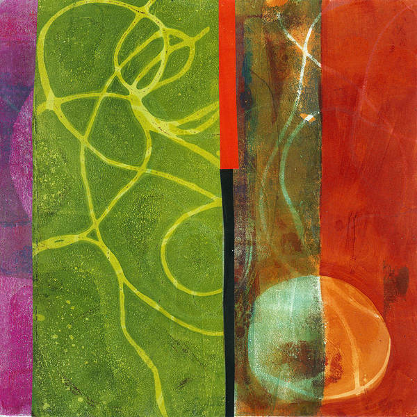 Acrylic And Collage Art Print featuring the painting Grid Print 13 by Jane Davies