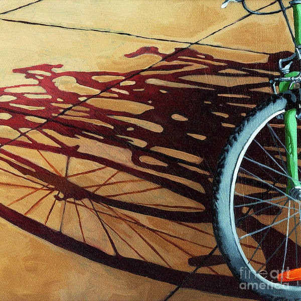 Bicycle Art Print featuring the painting Group Hug - Bicycle Art by Linda Apple