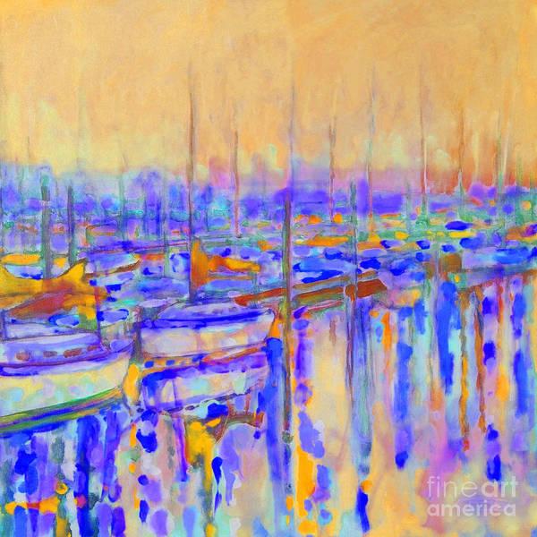 Harbor Art Print featuring the painting Harbor Sunrise I   Six Am by Kip Decker
