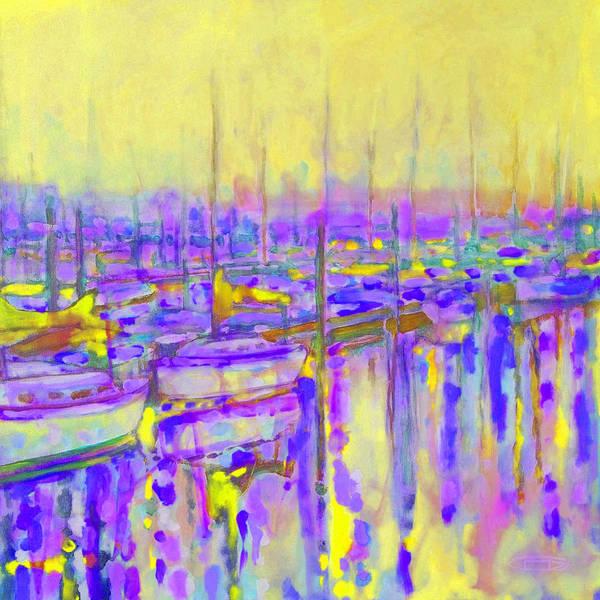 Harbor Art Print featuring the painting Harbor Sunrise II Seven Am by Kip Decker