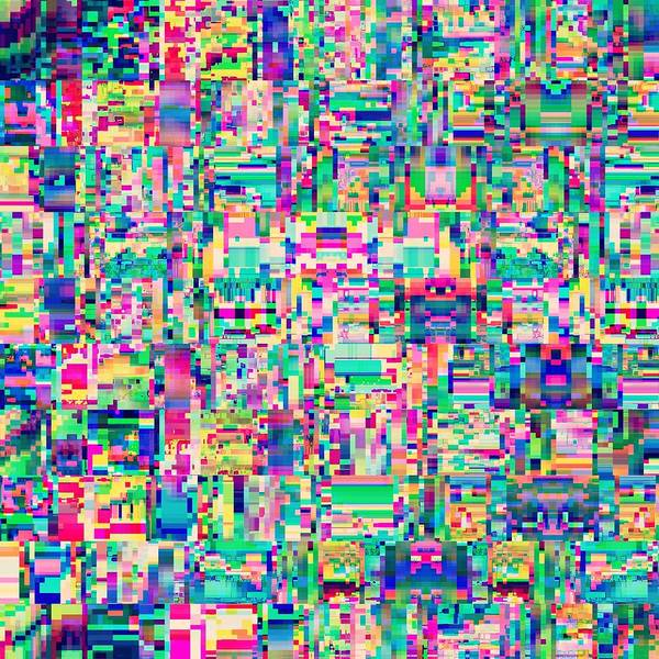 Glitch Art Print featuring the digital art Huoratron by Pxlwrx