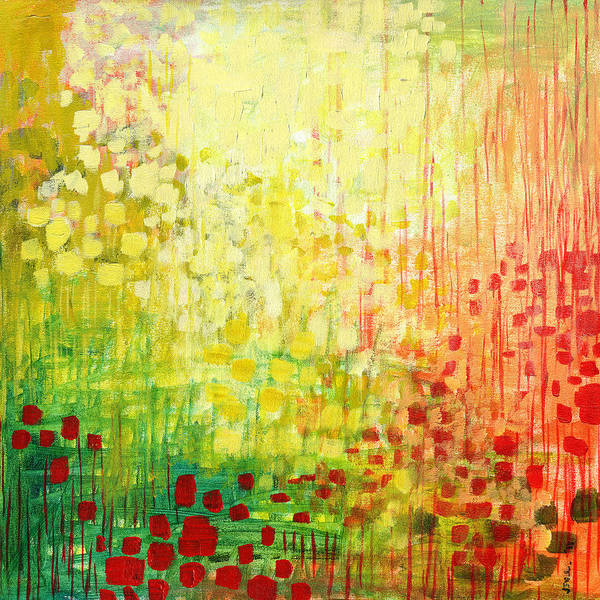 Abstract Art Print featuring the painting Immersed No 2 by Jennifer Lommers