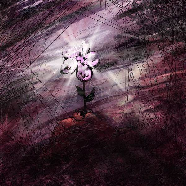 Abstract Art Print featuring the digital art In All Things In Him by William Russell Nowicki