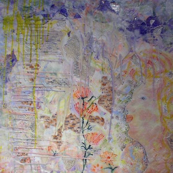 Abstract Art Print featuring the painting In The Now by Heather Hennick