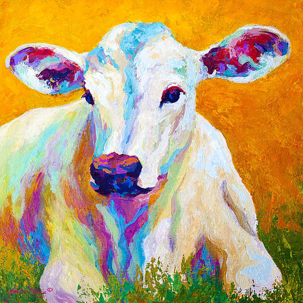 Cows Art Print featuring the painting Innocence by Marion Rose