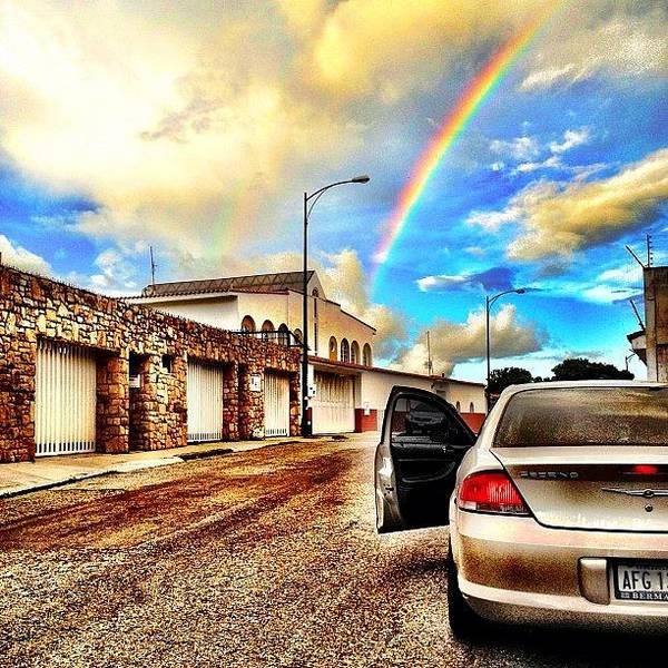 Popularpics Art Print featuring the photograph #iphone # Rainbow by Estefania Leon
