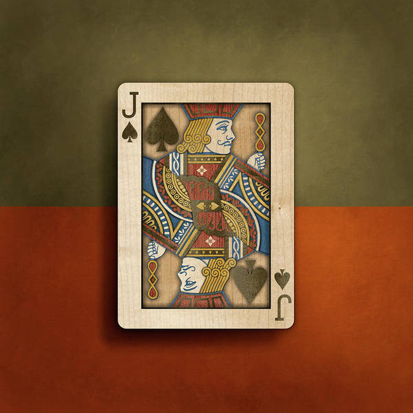 Boards Art Print featuring the photograph Jack Of Spades In Wood by YoPedro
