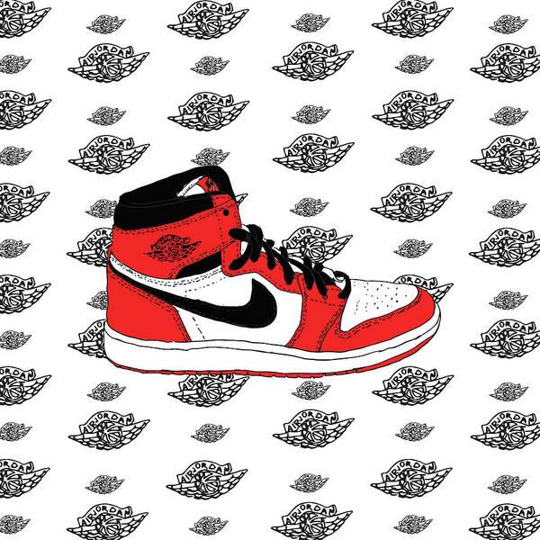 footwear temperament shoes for whole family Jordan 1 Chicago Art Print