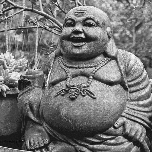 Happy Art Print featuring the photograph Joyful Lord Buddha by Karon Melillo DeVega