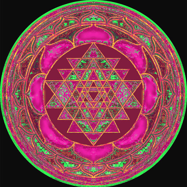 Lakshmi Mandala Art Print featuring the painting Lakshmi Yantra Mandala by Svahha Devi
