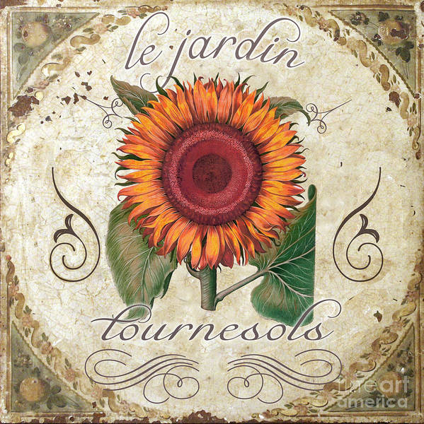 Sunflowers Art Print featuring the painting Le Jardin Tournesols by Mindy Sommers