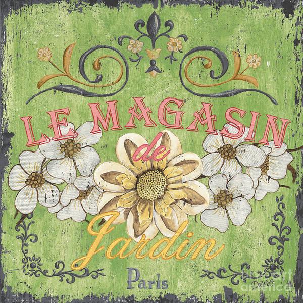 Floral Art Print featuring the painting Le Magasin De Jardin by Debbie DeWitt