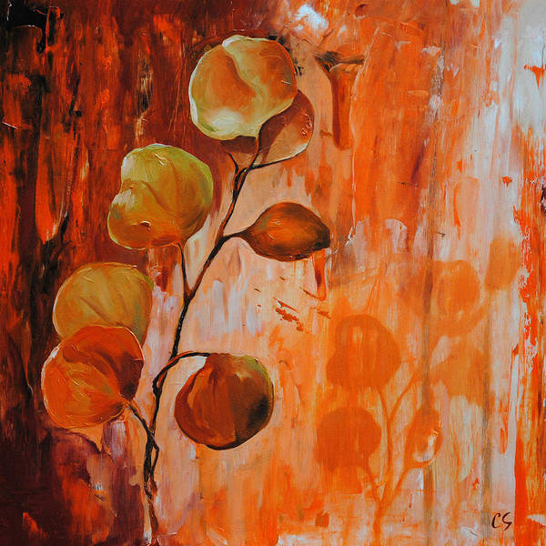 Leaves Art Print featuring the painting Leaves1 by Chris Steinken