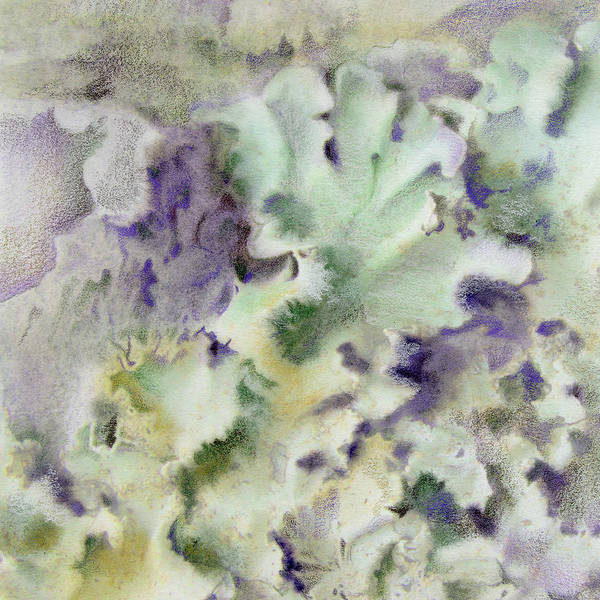 Lichen Art Print featuring the painting Lichen by Mindy Lighthipe
