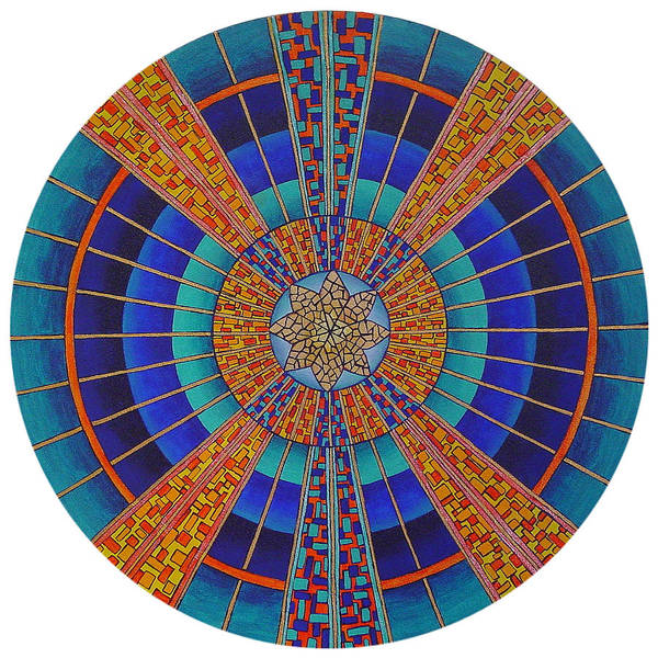 Mandala Art Print featuring the painting Light Of Knowing by Charlotte Backman