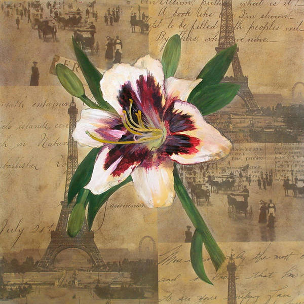 Lily Of France Art Print featuring the painting Lily Of France by Carrie Jackson