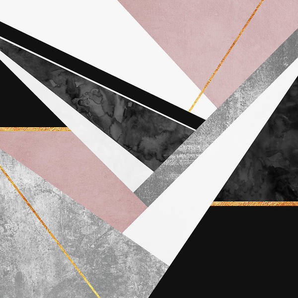 Digital Art Print featuring the digital art Lines And Layers by Elisabeth Fredriksson