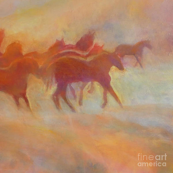 Horse Art Print featuring the painting Lookin To Race I by Kip Decker