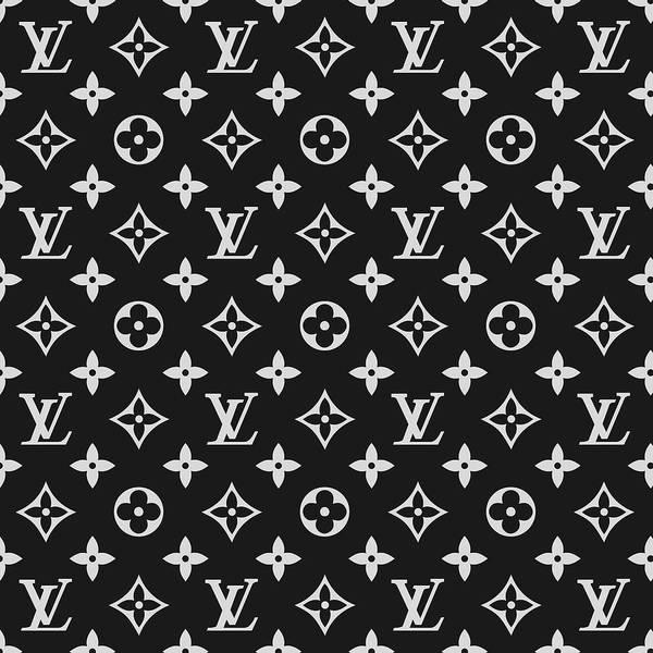 f25f3669a211 Louis Vuitton Art Print featuring the digital art Louis Vuitton Pattern - Lv  Pattern 06 -