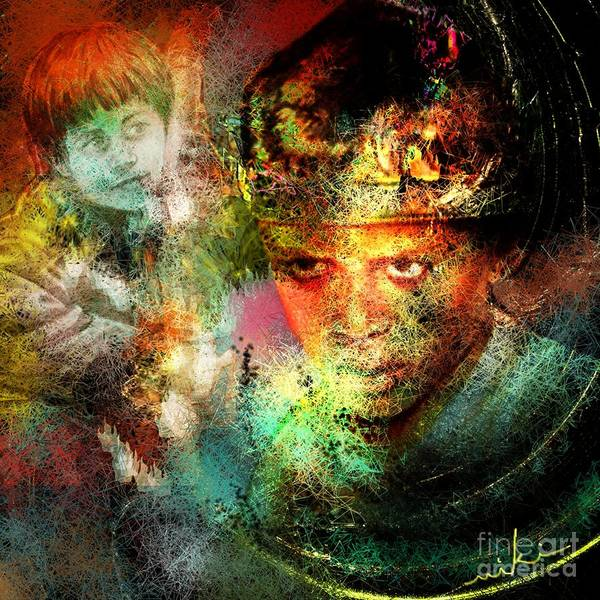 Portrait Art Print featuring the painting Love For The Boy King by Miki De Goodaboom