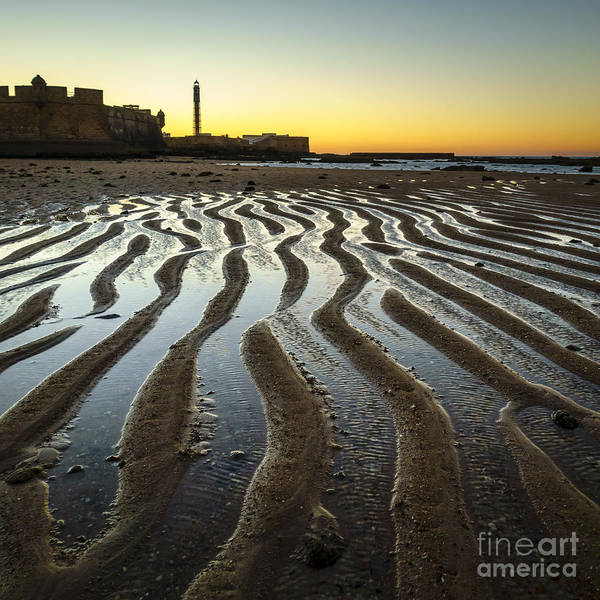 1812 Art Print featuring the photograph Low Tide On La Caleta Cadiz Spain by Pablo Avanzini