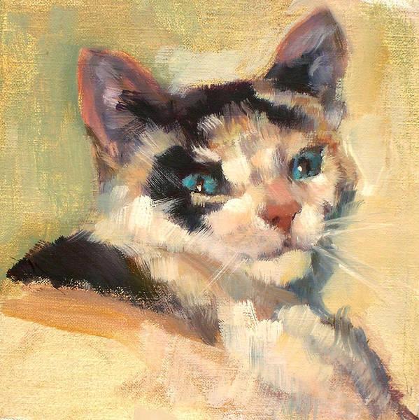 Cat Art Print featuring the painting Luna by Merle Keller