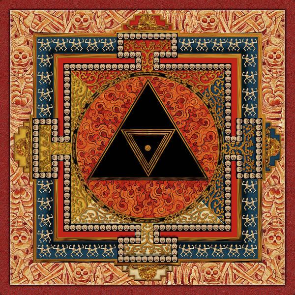 Mandala Art Print featuring the digital art Mandala Kalichakre For Her by Mark Myers