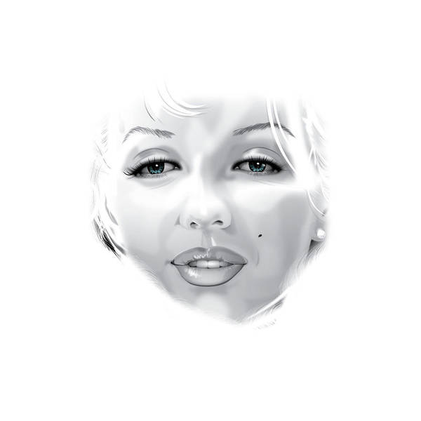 Marilyn Munroe Art Print featuring the digital art Marilyn by Brian Gibbs