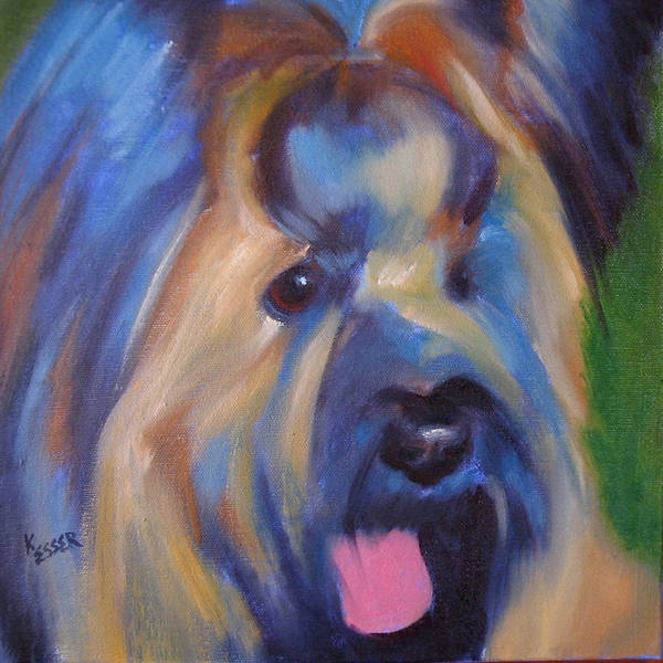 Briard Art Print featuring the painting Maverick by Kaytee Esser