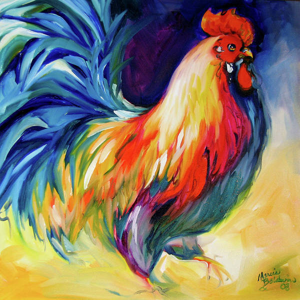 Rooster Art Print featuring the painting Mister Show Rooster Art by Marcia Baldwin