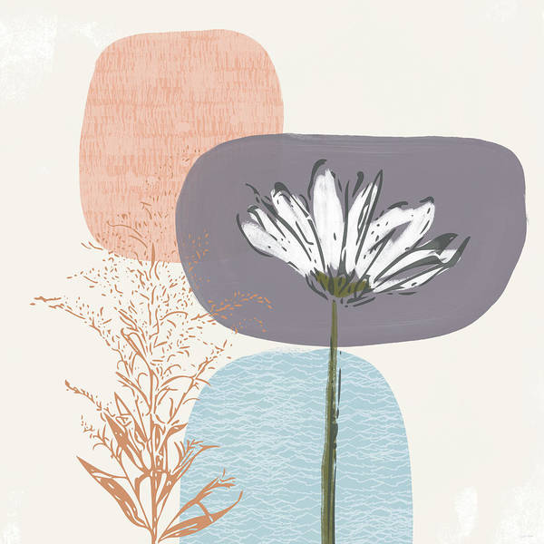Modern Art Print featuring the mixed media Modern Fall Floral 2- Art By Linda Woods by Linda Woods