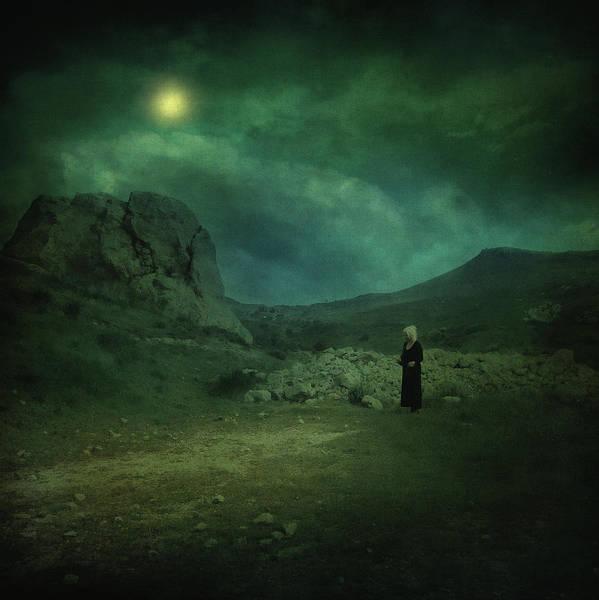Night Art Print featuring the photograph Moonloop by Zapista