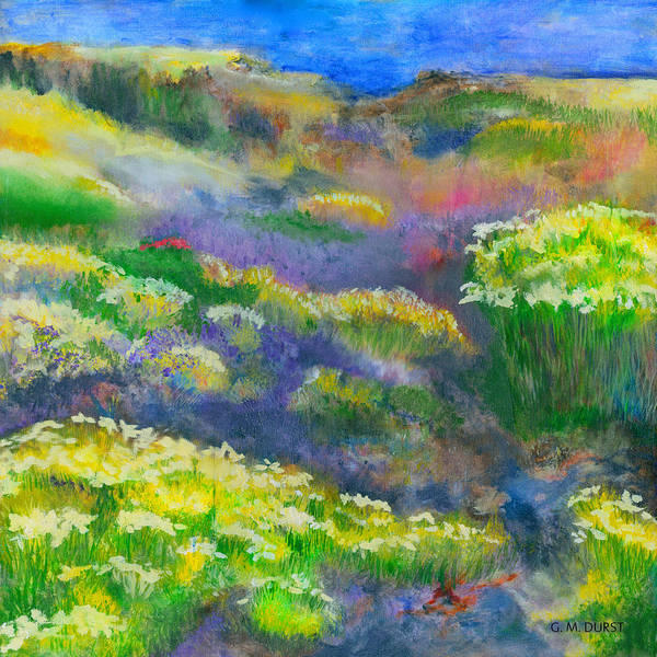 Wild Flower Art Print featuring the painting Morning Mist by Michael Durst