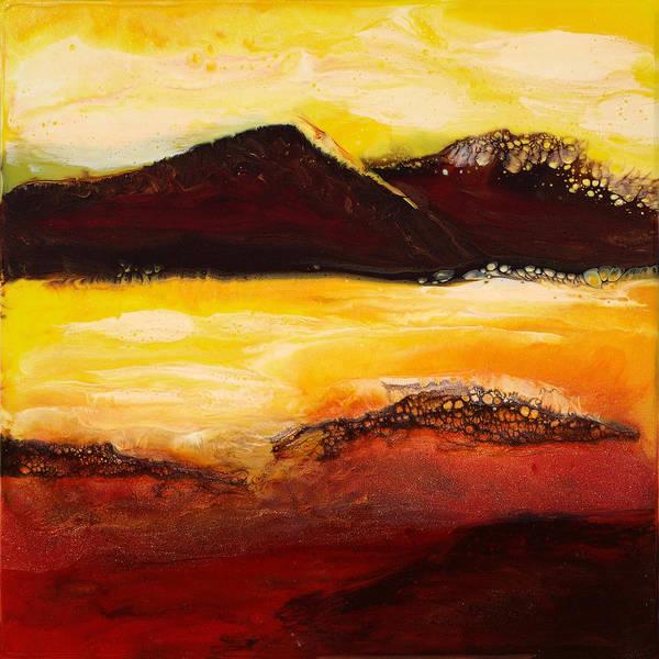 Paul Tokarski Art Print featuring the painting Mountain Pass 1 by Paul Tokarski