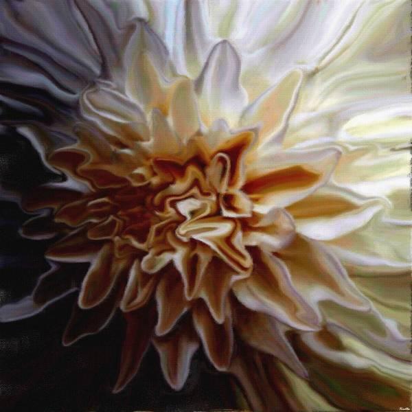 Flower Art Print featuring the digital art My Exotic Flower by Andrea N Hernandez