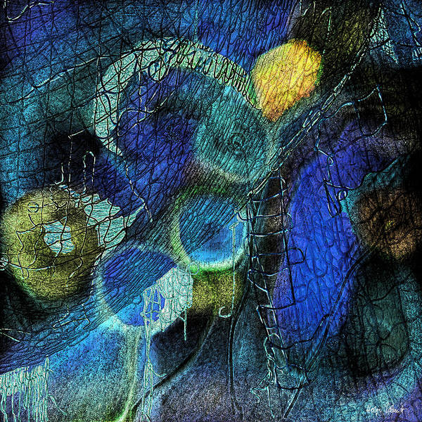 Photopainting Art Print featuring the digital art Network 4 by Helga Schmitt