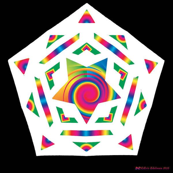 Pentacle Art Print featuring the digital art New Star 2a by Eric Edelman