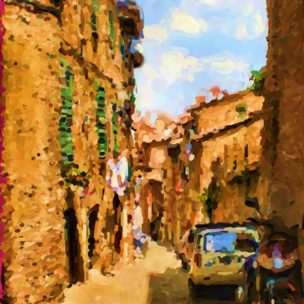 Sienna Art Print featuring the photograph Noon In Sienna by Asbjorn Lonvig