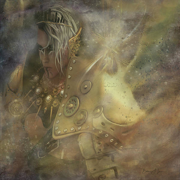 Norse Art Print featuring the digital art Norse Warrior by Barbara A Lane