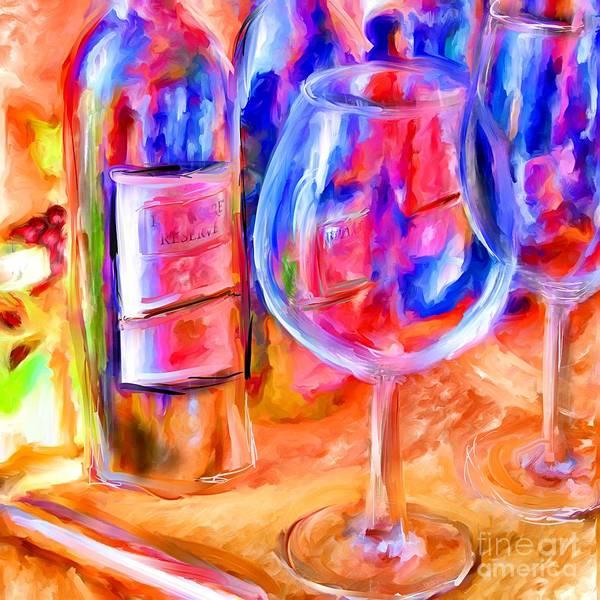 Wine Art Print featuring the mixed media North Carolina Wine by Marilyn Sholin