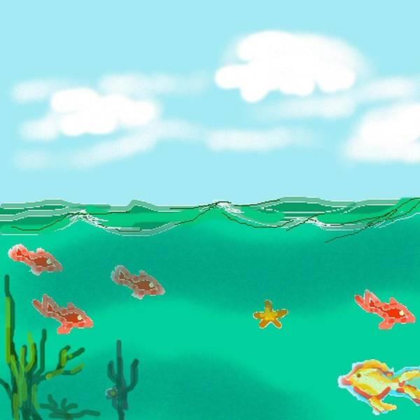 Ocean Art Print featuring the digital art Ocean by Carole Boyd