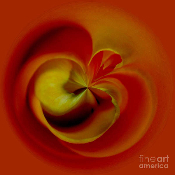 Flower Art Print featuring the digital art Orb 2 by Elena Nosyreva