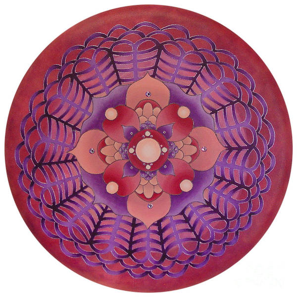 Mandala Art Print featuring the painting Passionate Pink by Charlotte Backman