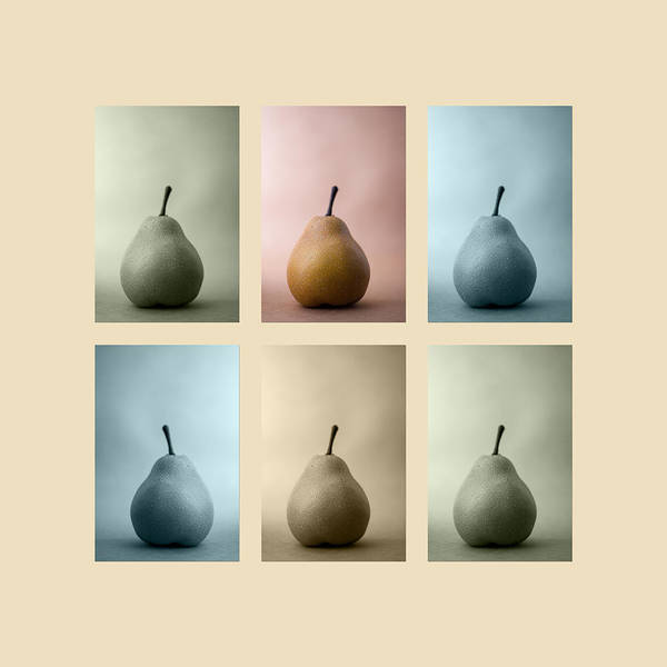 Pear Art Print featuring the photograph Pears Squared by Carol Leigh