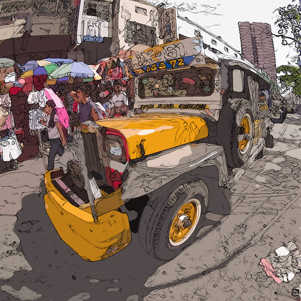 Philippines Art Print featuring the painting Philippines 1261 Jeepney by Rolf Bertram